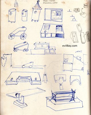 sketches for clay sculpture