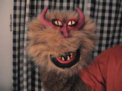 finished demon puppet