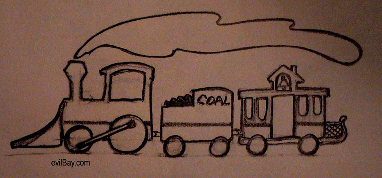Old Train Drawing Old Toy Train